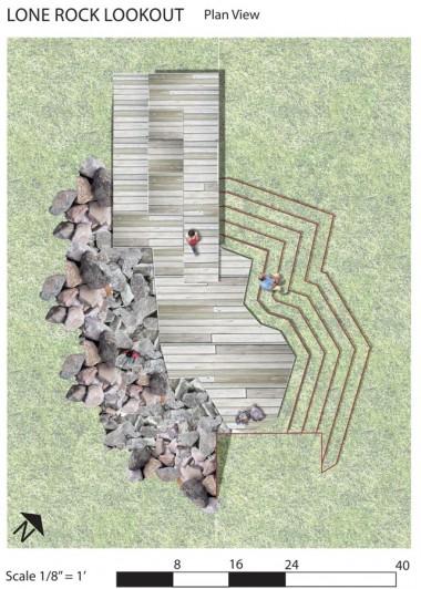 Lone Rock Lookout plan