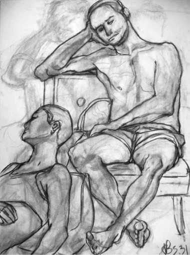 Two figures seated, 2003