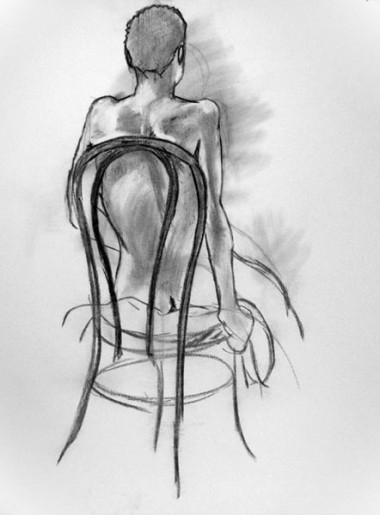 Woman on Chair from behind, 2006