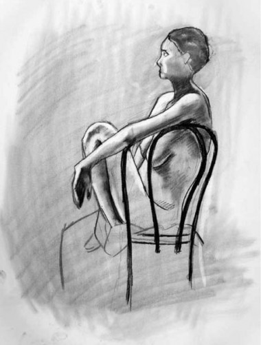 Woman on chair, 2006