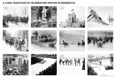 Winter in Minnesota, historic photographs